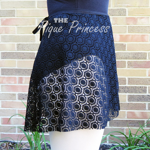 Black Circles Lace - Wrap Skirt